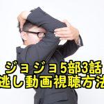 ジョジョ5部3話の見逃し配信動画の視聴方法と感想!再放送がいつでも見れる!